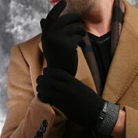 圣苏萨娜 冬季保暖 英伦休闲 商务 男式绒布手套