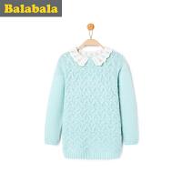 巴拉巴拉童装 女童毛衣套头中大童 上衣冬装新款儿童针织衫
