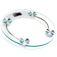 【满99-30满199-80】得力9028圆形LCD液晶显示电子健康秤/体重秤/人体秤 钢化玻璃