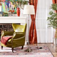 奇居良品 美式北欧简约现代客厅书房卧室装饰灯具 奥维亚铁艺落地灯