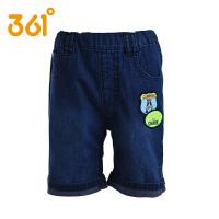 361度童装男童夏季牛仔裤五分裤儿童运动裤男童休闲短裤