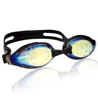 近视个性电镀泳镜幻彩镀膜防雾专业度数游泳眼镜