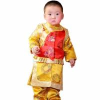 新年贺岁*复古宝宝唐装周岁服满月三件套阿哥地主棉服