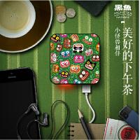 黑鱼 移动电源8000毫安充电宝安卓通用 IMOVE-机器猫 黑鱼创意个性卡通移动电源可爱迷你iPhone6 充电宝手机便携