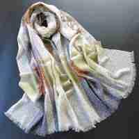 薇秋2015春秋女士蚕丝丝大两用气质披肩 女式欧美格子围巾 秋冬季长款羊毛围巾
