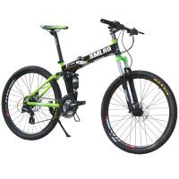 自行车山地自行车24速油刹折叠车变速山地车