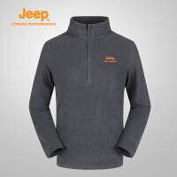 Jeep/吉普 秋冬男士户外抓绒衣开衫外套单穿夹克J662011349