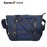 卡拉羊单肩包斜挎包男韩版休闲运动包大中学生书包CX4629