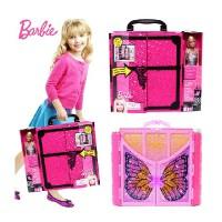 芭比娃娃蝴蝶仙子甜甜屋 玩具Barbie芭比梦幻衣橱X4833