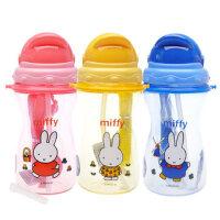 米菲吸管杯 儿童水壶吸管杯 9个月以上宝宝喝水杯训练杯子 400ml