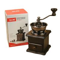 YAMI/亚米8521小木手摇磨豆机 咖啡研磨机 手动磨咖啡豆机
