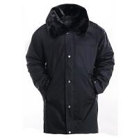 户外人气时尚流行耐磨耐穿保安大衣长款多功能防寒服冬季羊绒大衣工作服 军迷服饰