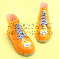 儿童雨鞋 男童 女童 宝宝 胶鞋萌物雨靴 女童时尚小孩水鞋
