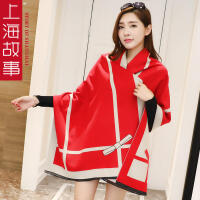 春秋女士韩版时尚新款仿羊绒披肩围巾两用长加厚百搭夏季空调围巾