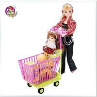 全店满99包邮!乐吉儿梦幻超市洋布芭比娃娃礼盒套装正品2014可儿女孩玩具