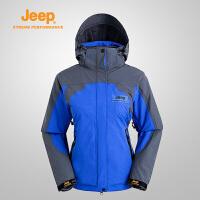 Jeep/吉普 女士三合一冲锋衣防风防水冲锋衣户外夹克J628101018