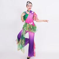 新款秧歌服演出服中老年古典舞舞蹈服装扇子舞广场舞腰鼓服扇子舞