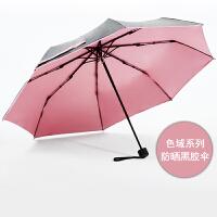 COHS 零透光黑胶晴雨伞防紫外线防晒UPF50+太阳伞色域CS601 (樱花粉)