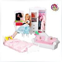 全店满99包邮!乐吉儿梦幻房间洋布芭比娃娃套装礼盒2014可儿女孩玩具