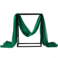 女士春秋季纯色丝丝巾空调披肩围巾秋冬季绿色长纱巾空调披肩围巾秋冬季