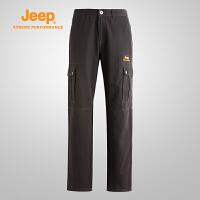 【特价清仓】Jeep/吉普 男士秋冬款户外休闲工装裤J671021662