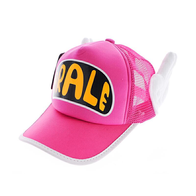 韩版女帽阿拉蕾棒球帽 小葡萄帽子带翅膀秋季 遮阳帽_6号网眼黑底玫