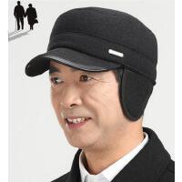 秋冬季保暖帽爸爸帽老人护耳帽平顶帽老头帽 中老年人冬帽男士帽子