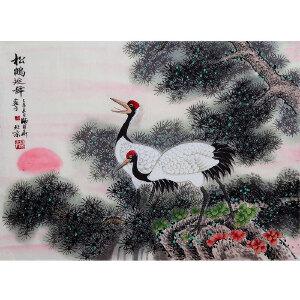 国家一级美术师 师百卉 【松鹤延年】X0702