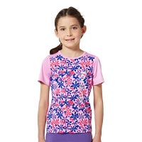 探路者童装TOREAD户外  夏装女童印花系列圆领短袖T恤