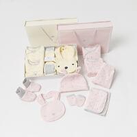 davebella戴维贝拉 冬季加厚版新款婴儿礼盒8件套 新生儿礼盒
