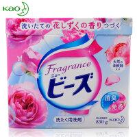 花王(kao)含天然柔顺剂洗衣粉850g*玫瑰果香 衣物清洁