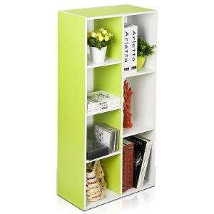 [当当自营]慧乐家 鲁比克彩色七格柜11048-2 绿/白色 书架书柜 收纳储物柜子 优品优质