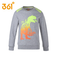 361度童装2017新款童装男童套头卫衣中大童印花长袖运动T恤
