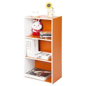 [当当自营]慧乐家 L40三层收纳柜12054 白色橙色 书柜书架 柜子