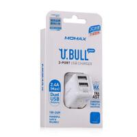 Momax 小白智能三星平板电脑 充电器 华为魅族小米HTC双多口USB  iphone6 plus ipad mini3 air2苹果手机充电器头 5v 2.4A快速 通用