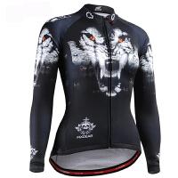 fixgear夏季女士长袖骑行服 自行车户外运动骑行服训练赛车服