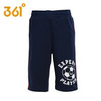 361度童装男童针织短裤夏季儿童短裤子休闲裤足球运动裤七分裤