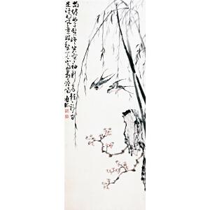 1053 黄慎 《双燕》
