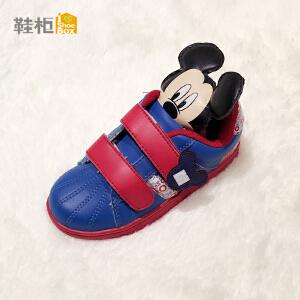 鞋柜SHOEBOX男童2016春夏新款米老鼠图案PU魔术贴防滑舒适运动鞋