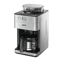 【ACA北美电器旗舰店】AC-M18A 咖啡机全自动磨豆 1.8L美式滴漏家用型 全自动研磨滴漏式咖啡机,磨豆、咖啡、泡茶