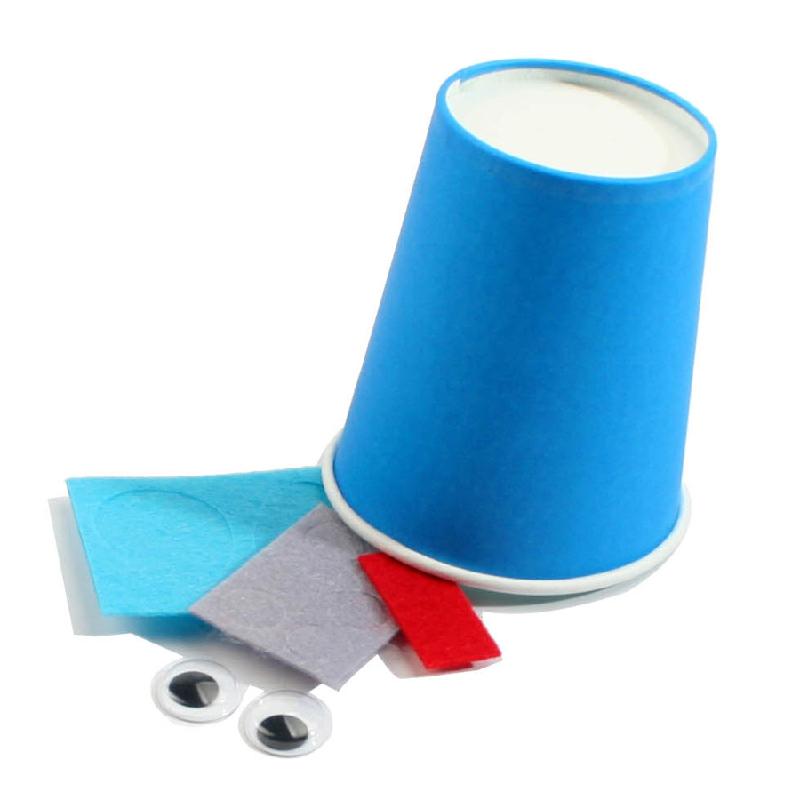 幼儿园手工材料手工diy儿童手工制作-彩色手工diy纸杯_大象材料包