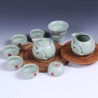 尚帝 整套汝窑茶具陶瓷套装 可养开片功夫茶具套装 特价套装2014WHRY4K