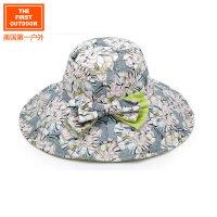 美国第一户外 女款抗紫外线时尚大檐遮阳帽登山休闲太阳帽子户外帽