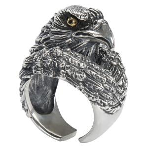 戴和美珠宝首饰戒指 S925银鹰头戒指/指环