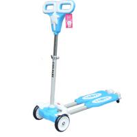 可升降儿童四轮蛙式车可折叠双脚踏板车双刹轮滑滑板