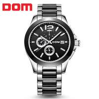 多姆(DOM)手表 全自动机械表精钢男士腕表商务镂空防水男士手表