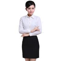 女式衬衫长袖秋冬职业装白衬衫 女衬衫职场女性制服套装修身女装