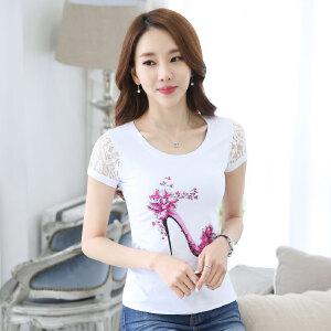 波柏龙 2016夏季新款女装短袖T恤短袖夏季新款韩版学院风女学生修身显瘦内搭打底衫女