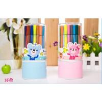 掌握217 韩版创意文具 可水洗无毒水彩笔儿童彩色画笔套装 涂鸦笔