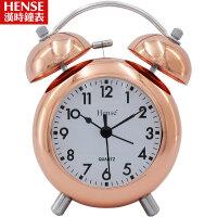 汉时钟表学生创意闹钟 静音夜光电子时钟床头卡通打铃小闹钟懒人儿童钟表HA02
